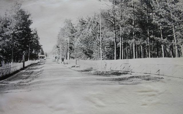 дорога к штабу части 68586